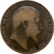1902 to 1910 Half Penny Edward VII Grade from Poor to Fine
